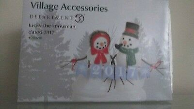 Dept 56 Accessory --Lucky The Snowman Dated 2017  #4058777  Nib