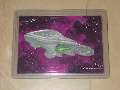 Star Trek Voyager Heroes & Villains Sketch SketchaFEX Roy Cover Chokuzan Ship