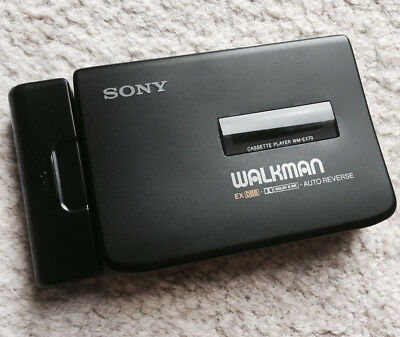 Sony WM EX70 Walkman Cassette Player, Cool Black Color !! Working Great !!