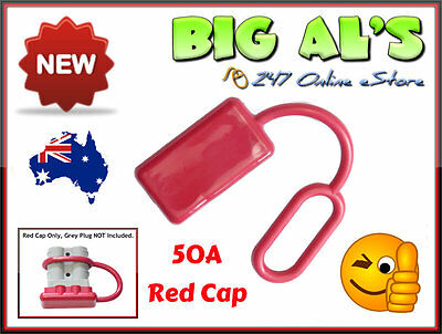 10 x RED Rubber Dust Cap Covers to suit 50Amp Anderson DC Power Plug Connectors
