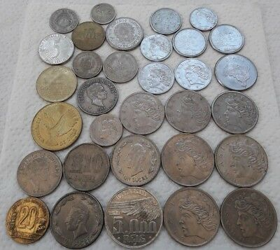 Lot 32 Old Brasil Coins Silver 1936 5000 Reis Ssouth America Chile Ecuador Col