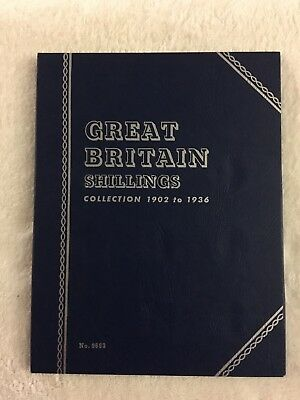 "Whitman Great Britain Shillings 1902-1936 #9693 ""VINTAGE""  Coin Folder"
