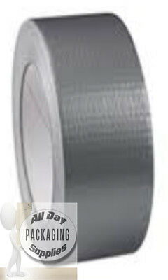 1 Roll Of Strong Silver Duct Cloth Gaffa Tape 50Mm X 50Metre 75 Micron Gaffer