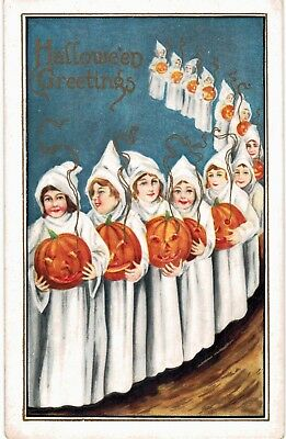 Halloween Whitney CLoaked Children with JOLs Unused 1920
