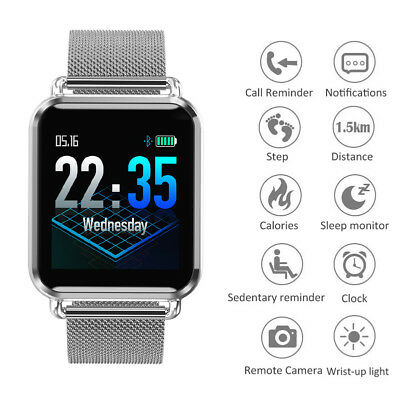 SMARTWATCH OROLOGIO INTELLIGENTE LCD Frequenza cardiaca Sport per Android IOS