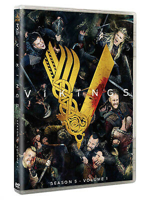 Vikings Season 5 Volume 1(DVD, 2018, 3-Disc Set)brand new Free shipping