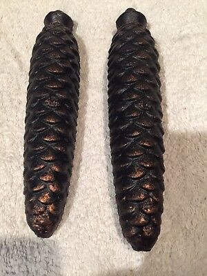 2 x #14 Black Forest Cuckoo Clock Pinecone Weights Very Good