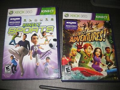 Lot of Xbox 360 Kinect Games Adventures & Sports