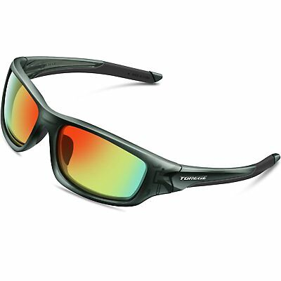 Torege Polarized Sports Sunglasses For Cycling Running Fishing Golf TR90 Frame