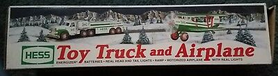 Hess 2002 Toy Truck and Airplane Collectible NEW motorized airplane with lights