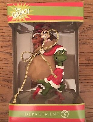 DEPARTMENT 56 Ornament-2018-THE GRINCH-CINDY LOU WHO-MAX-DR SEUSS - Rare - HTF