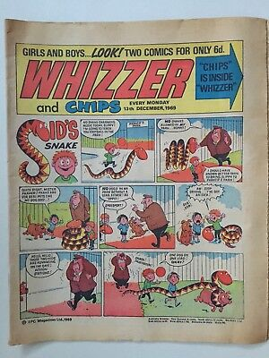 Original Whizzer and Chips Comic 13th December 1969