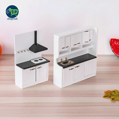 1:12 Doll House Miniature Furniture Wooden Kitchen Sets Accessories Decor Vintag