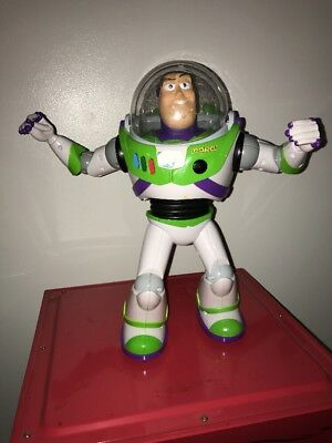 "Buzz Lightyear Disney Toy Story 13"" Remote Control U-Command Thinkway Toys RARE!"