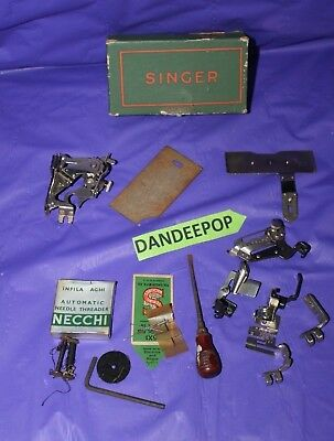 11 Vintage Sewing Machine Cleat Attachments And Parts Necchi, Singer