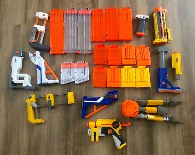 Nerf Accessory Lot Birthday Party Magazines Clips Scope N-Strike Gun etc