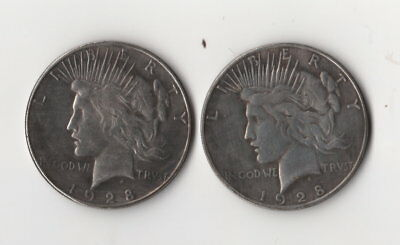 1928 Peace Dollar Toned Magic Trick Coin Two Face Two heads Novelty Fantasy