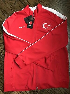 bc3656fa01  100 Nike Turkey National Soccer Team Full Zip Up Red Track Jacket Men s sz  XL