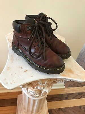 Dr. Martens Size 5  US Brown Leather Boots Vintage Made in England 8071