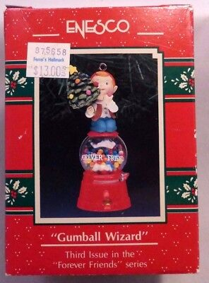 """Enesco """"GUMBALL WIZARD"""" 1991 Treasury Ornament - 3rd Issue in """"Forever Friends"""""""