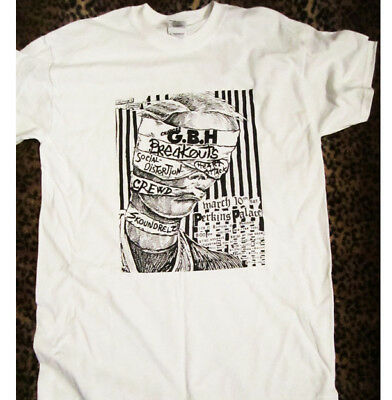 GBH Vintage Flyer T-Shirt,NEW Size XL,Punk,Exploited,Black Flag,Germs