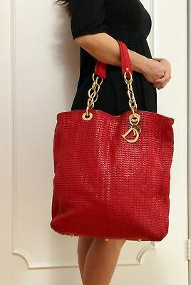 1b8bf41700 GENUINE ITALY WOVEN Lambskin Zip Purse Hangtag tote Clutch bag ...