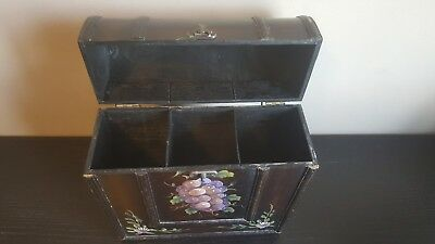 Antique Lacquered and Painted Wine Box