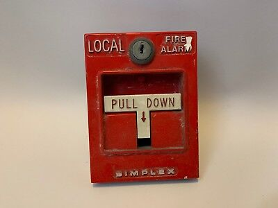 *Vintage* *Rare* Simplex 4251-20L Local Alarm Fire Alarm Pull Station