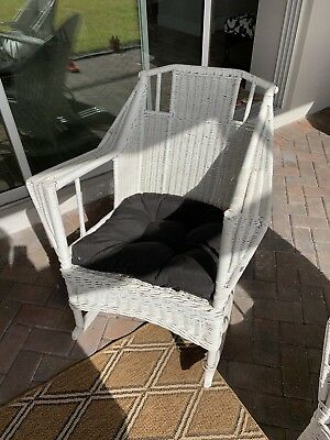 Vintage Wicker Rocker And Chair