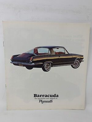 Plymouth 1964 Barracuda Car Sales Brochure Dealer Showroom Vintage 18-1254