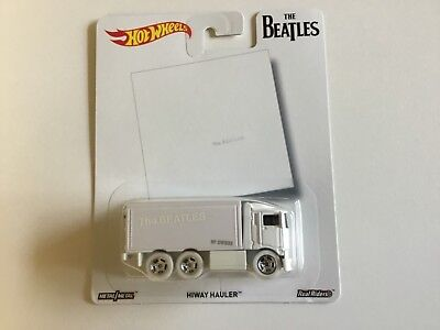 "Hot Wheels Pop Culture ""The Beatles""Series Hiway Hauler with white real riders"