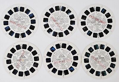 6 Out of Print Viewmaster Reels: Land of Giants,Time Tunnel, Sports Theatre
