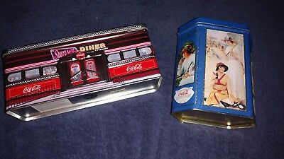 VINTAGE COKE COCA-COLA TINS set of two