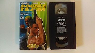 Double team - VHS cassette, video cassette with Van Damme, Rodman, Rourke