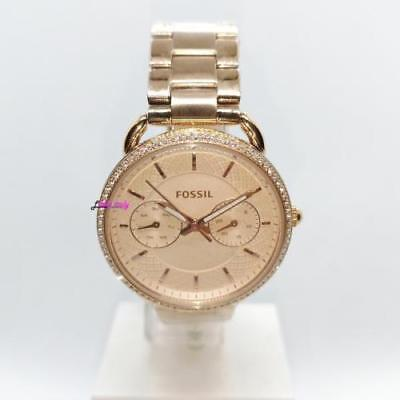 c4443957f05c Fossil Tailor Multifunction Rose Gold Stainless Steel Watch Es 4055 ...