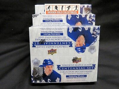 2017-18 UD Toronto Maple Leafs CENTENNIAL Factory-Sealed Trading Card BOX