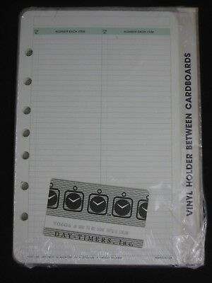 Day-Timer Desk Planner Refill Sheets TO-BE-DONE 2 Columns NOS Sealed 90606 OOP