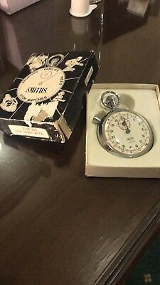 Vintage Smiths Swn 205 Stopwatch Original Box  1/10 Th Jewelled Working Order