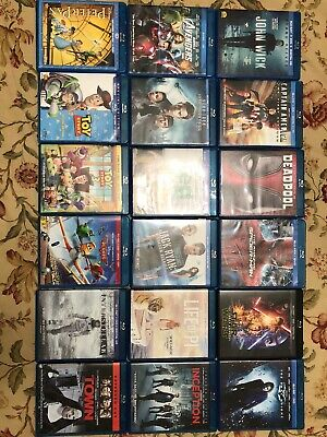32 Movies In Blu Ray No Dvd No Code. Marvel, Disney, Thor, Toy Story, Lion King