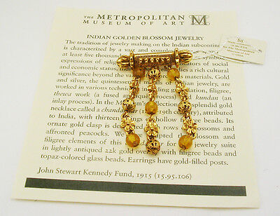 Metropolitan Museum of Art Golden Blossom Pin (with MMA romance card)