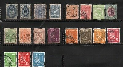 Finland  Lot of 19 stamps