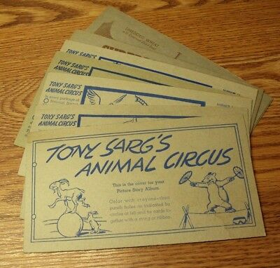 #2 Vtg SHREDDED WHEAT Advertising Cards TONY SARG'S ANIMAL CIRCUS Lot/9