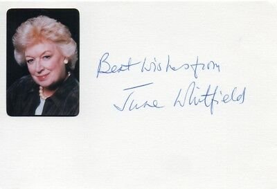 June Whitfield Autograph - Carry On - Signed 6x4 Card - Handsigned - AFTAL