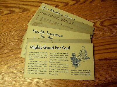 #3 Vtg SHREDDED WHEAT Advertising Cards MIXED SELECTION Lot/12
