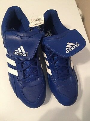 check out ee179 917a1 Adidas Mens Baseball Cleats Excelsior 5 Low Blue white Size 16