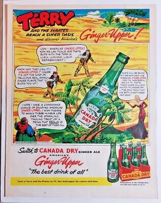 Canada Dry Ginger Ale Vintage Print Advertisement