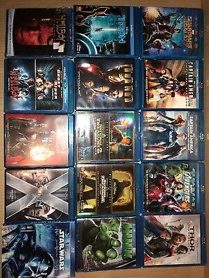 18 Marvel Super Hero Movies In Blu Ray No Code, Captain America, Avengers, Thor