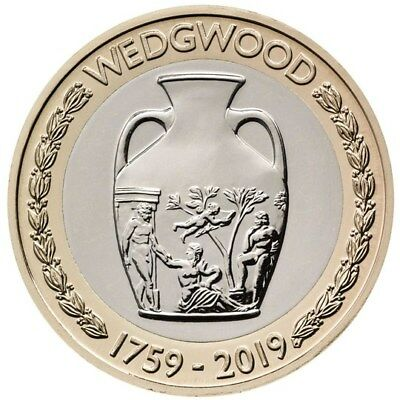 Uk Royal Mint 2019  Wedgwood Vase £2 Two Pound Coin Bunc Bu