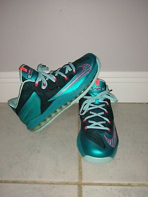 release date 83a3d 5d308 Nike Air Lebron Xi Low   Size 10.5 South Beach Mens Basketball Shoes 642849- 300