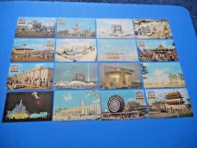 1964-65 New York World's Fair  Lot of (16) Vintage Post Cards